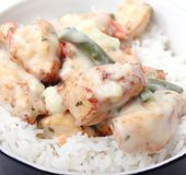 Stew of chicken with rice Royalty Free Stock Photography