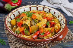 Stew with chicken and vegetables Royalty Free Stock Image