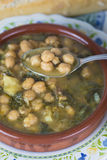 Stew of chickpeas and spinach Stock Image