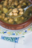 Stew of chickpeas and spinach Stock Photo