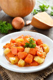 Stew dish with pumpkin and potatoes Royalty Free Stock Image