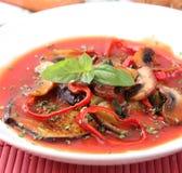 A stew of eggplants Stock Photo