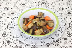 Stew of eggplants Royalty Free Stock Images