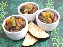 Stew of eggplants and carrots Royalty Free Stock Image