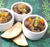 Stew of eggplants and carrots Royalty Free Stock Photos