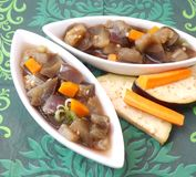 Stew of eggplants and carrots Stock Photo