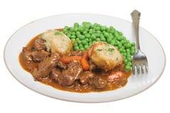 stew för nötköttcasseroleklimpar arkivfoto
