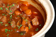stew för nötköttcasserolematrätt arkivfoto