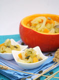 A stew of fennel and pumpkin Stock Photos