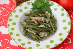 Stew of green beans Royalty Free Stock Images