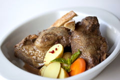 Stew of guinea fowl Stock Photos