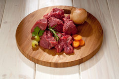 Stew with ingredients Stock Images