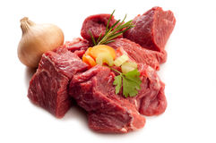 Stew with ingredients Stock Photography
