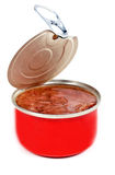 Stew in an iron open pot Royalty Free Stock Photography