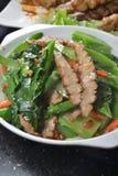 Stew jowl. Thai style stew Pork meat vegetable stock photo