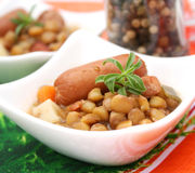 Stew of lentils Royalty Free Stock Image