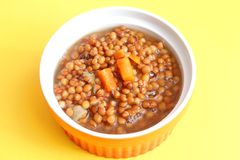 Stew of lentils with carrots Royalty Free Stock Photo