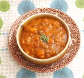 Stew of lentils Stock Image