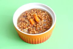 Stew of lentils Royalty Free Stock Photo