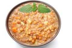 Stew of lentils. A fresh stew of lentils with potatoes Royalty Free Stock Images