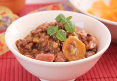 Stew of lentils Stock Photo