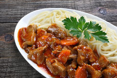 Stew made of pork meat Royalty Free Stock Image
