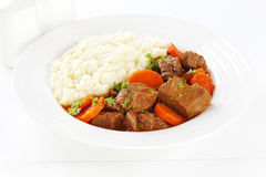 Stew and Mashed Potatoes Stock Images