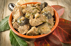 Stew meat and mushrooms Stock Photos