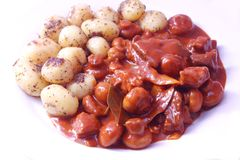 Stew of meat and mushrooms Royalty Free Stock Photos