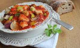 stew with meat and vegetables Royalty Free Stock Image