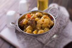 Stew with meat and vegetables Royalty Free Stock Images