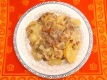 Stew of minced meat and potatoes Royalty Free Stock Image