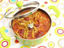 Stew of mixed beans Royalty Free Stock Photos