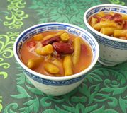 Stew of mixed beans Royalty Free Stock Images