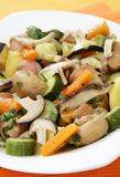 Stew with mushrooms and vegetables Stock Photos