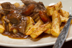 Stew n Chips Royalty Free Stock Photography