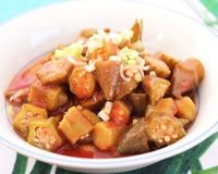 Stew of okras Stock Photography