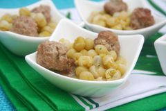 Stew of peas with meatballs Stock Photos