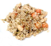 Stew of rice and chicken meat Royalty Free Stock Photography