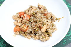 Stew of rice and chicken meat Royalty Free Stock Photo