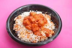 Stew with rice Stock Image