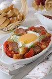 Stew with sausage and egg Royalty Free Stock Photos