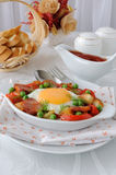 Stew with sausage and egg Stock Photos