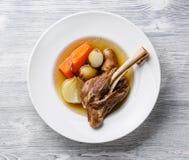 Stew soup khashlama with lamb Royalty Free Stock Images