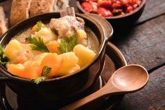 Stew soup with ribs Royalty Free Stock Images