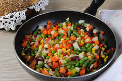 Stew stewed vegetables in a pan Royalty Free Stock Photography