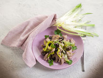 Stew veal wtih leek and black Royalty Free Stock Photos