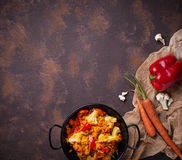 Stew vegetable in pan. Selective focus Stock Images