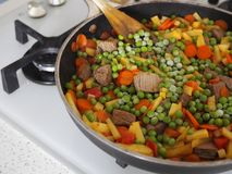 Stew with vegetables Stock Photos