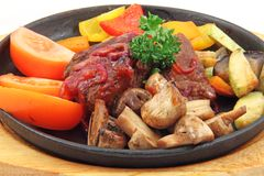 Stew with vegetables and mushrooms Stock Image